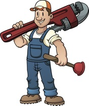 All Elements Industries | Creston BC | Cartoon of plumber | PLumbing and Gas Fitting